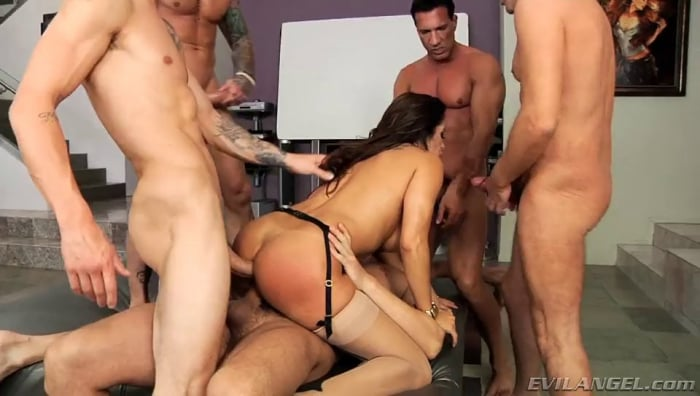 Francesca Le in LeWood Gangbang: Battle Of The MILFs