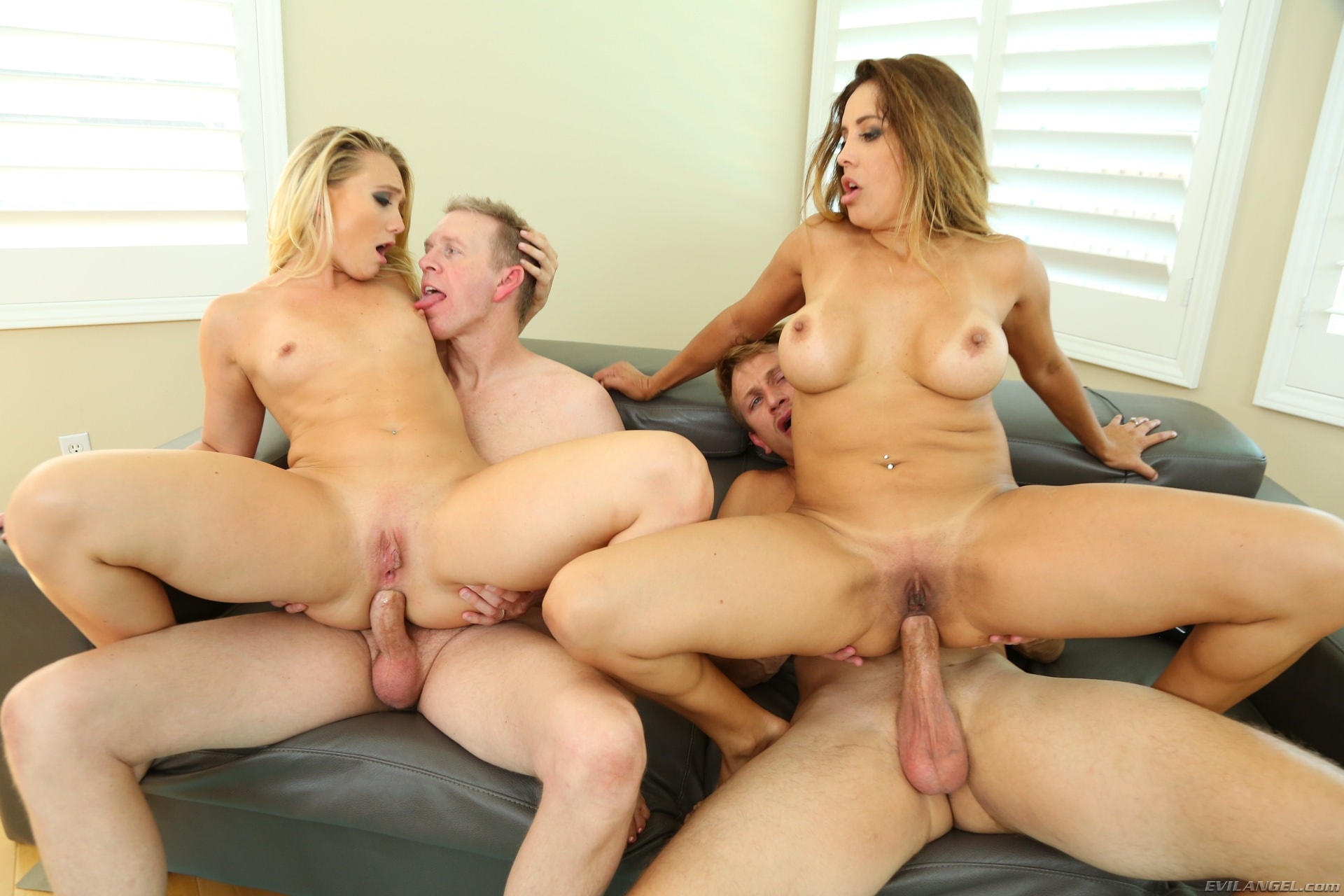 Sexy Francesca Le And Aj Applegate Fucked On Swinging