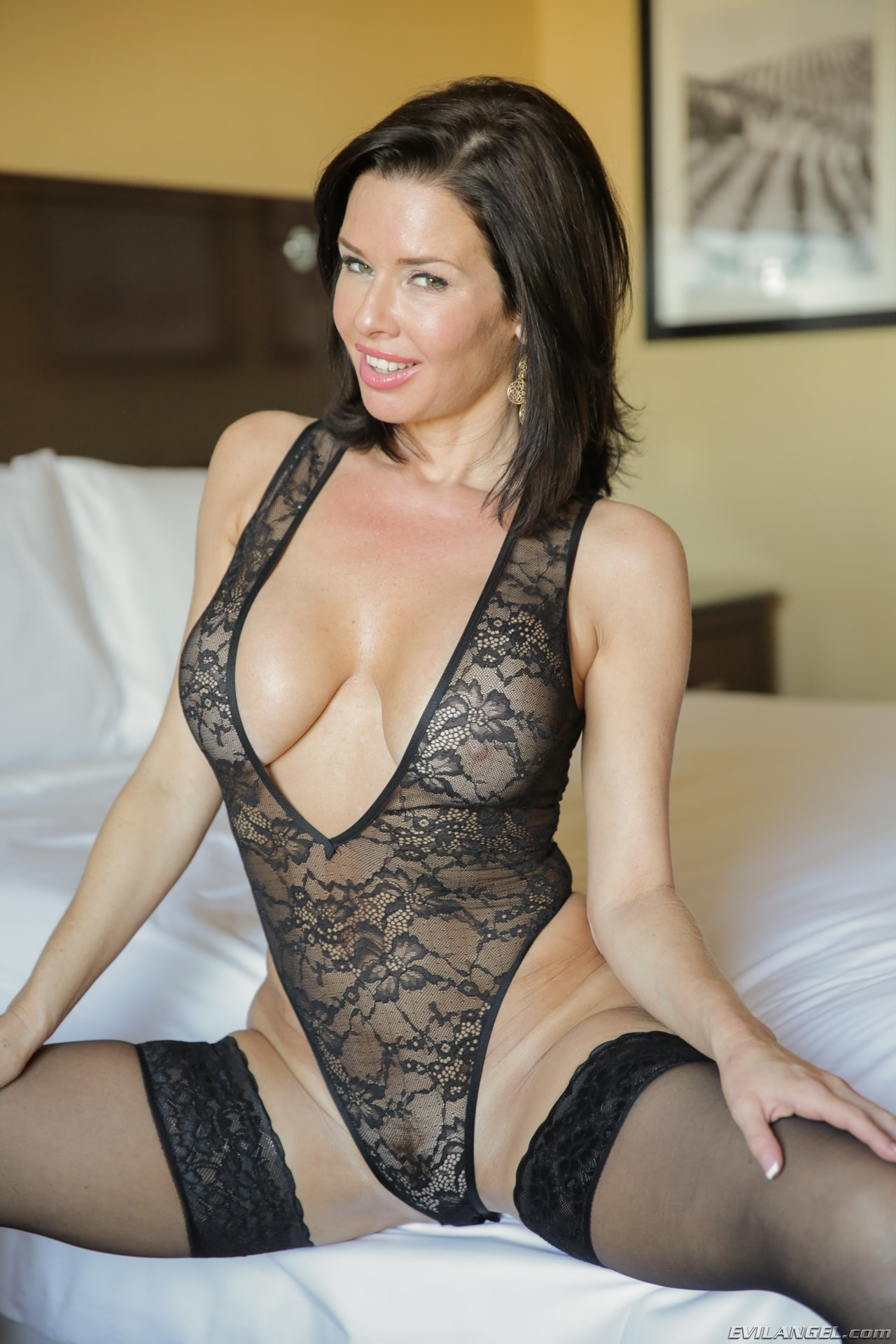 Black Haired Hot Busty Milf